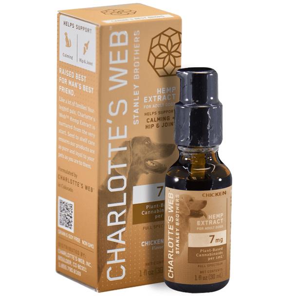 Charlottes Web - CBD Pet Tincture - Full Spectrum Calming Drops - 7mg/1mL