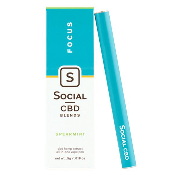 Social - CBD Vape - Focus Spearmint - 250mg