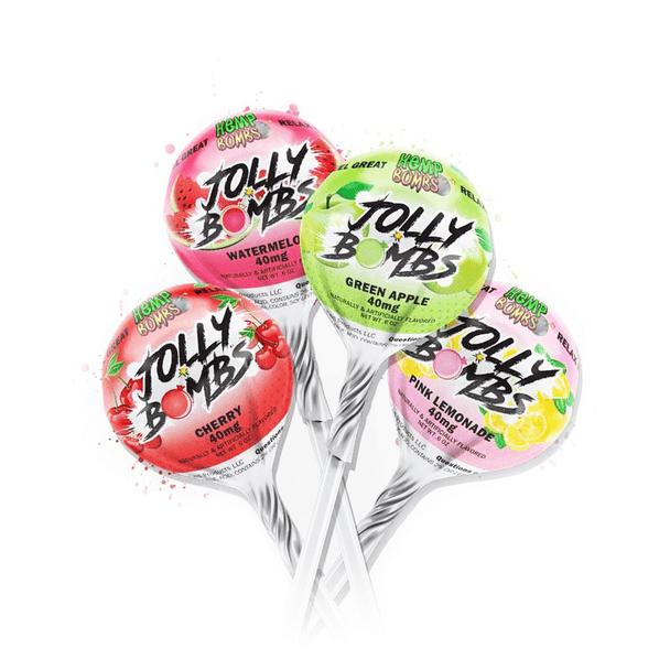Hemp Bombs - CBD Edible - Jolly Lollipops Assorted - 25mg