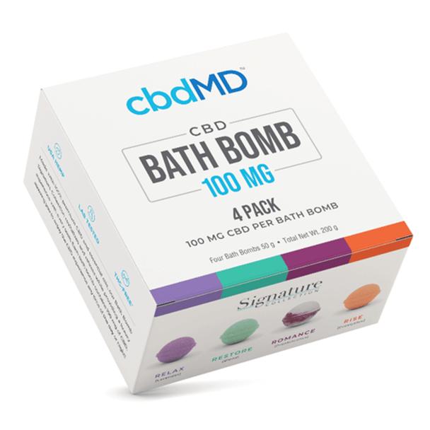 cbdMD - CBD Bath - Bath Bombs 4 Pack - 100mg