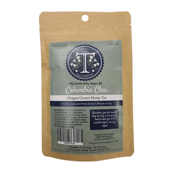 Tranquility Tea Company - CBD Tea - Columbia Chai -60mg-65mg