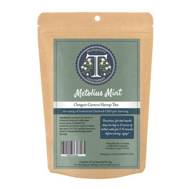Tranquility Tea Company - CBD Tea - Metolius Mint - 60mg-65mg
