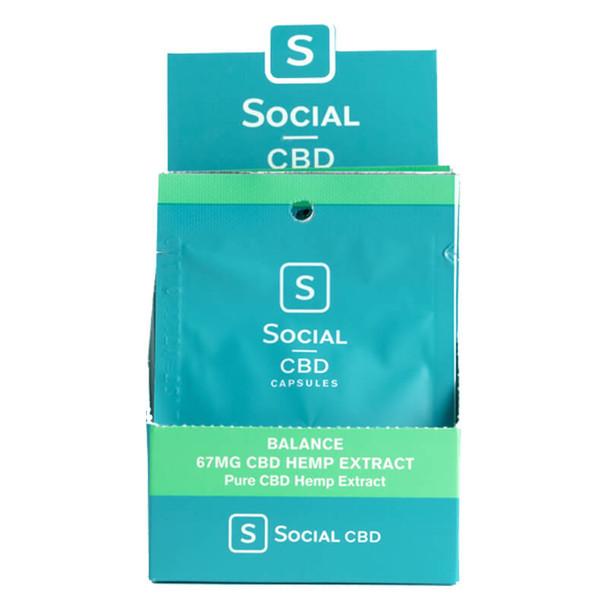Social CBD - CBD Capsule - Balance Soft Gel 2 Pack - 33.3mg
