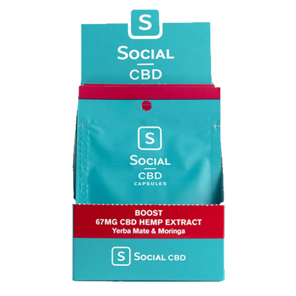 Social CBD - CBD Capsule - Boost Soft Gel 2 Pack - 33.3mg