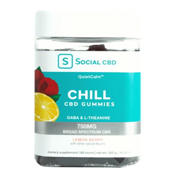 Social CBD - CBD Edible - Chill Broad Spectrum Lemon Berry Gummies - 750mg