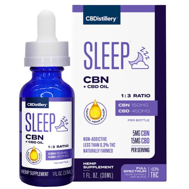 CBDistillery - CBD Tincture - Sleep CBN + CBD Oil 1:3 - 450mg