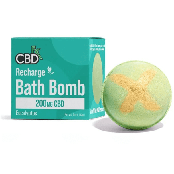 CBDfx - CBD Bath - Recharge Eucalyptus Bath Bomb - 200mg