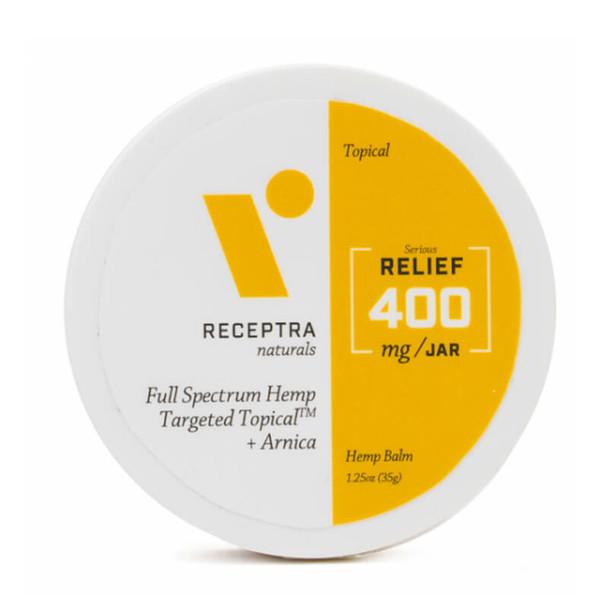 Receptra Naturals - CBD Topical - Full Spectrum Balm + Arnica - 400mg-800mg