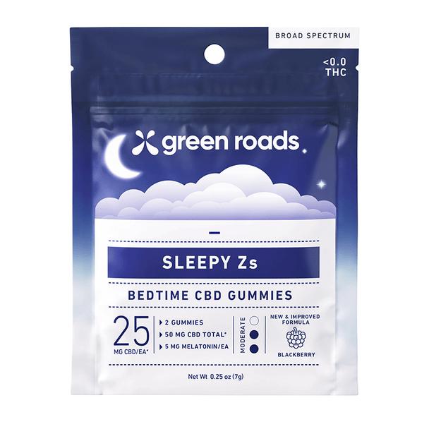 Green Roads - CBD Edible - Sleepy Zs Bedtime Blackberry Gummies - 25mg