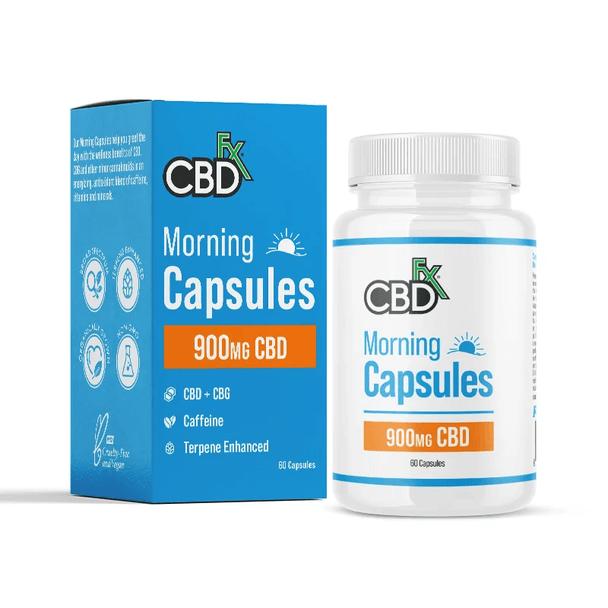 CBDfx - CBD Capsules - Broad Spectrum AM Capsules + CBG - 900mg