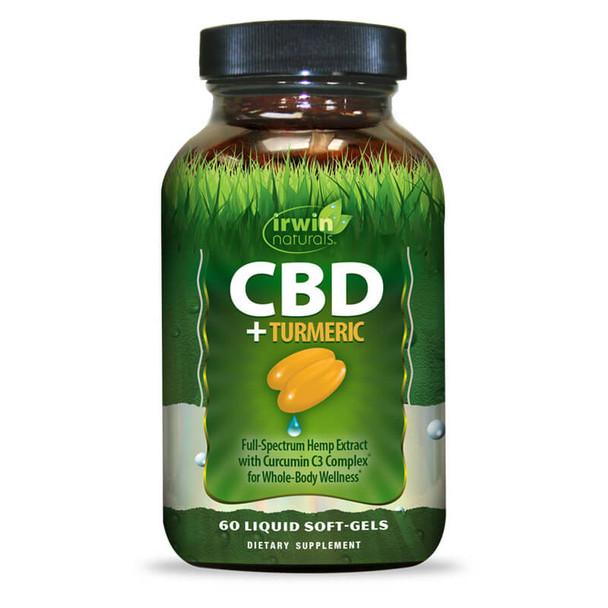 Irwin Naturals - CBD Capsules - CBD + Turmeric Softgels - 15mg