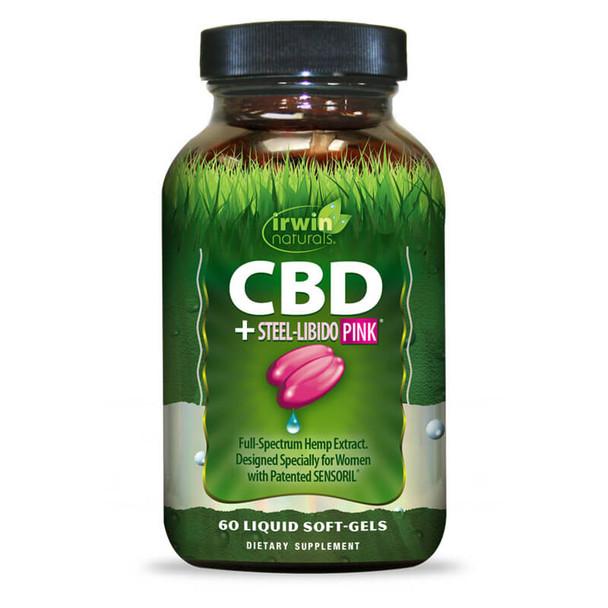 Irwin Naturals - CBD Capsules - CBD +  Steel Libido PINK - 15mg