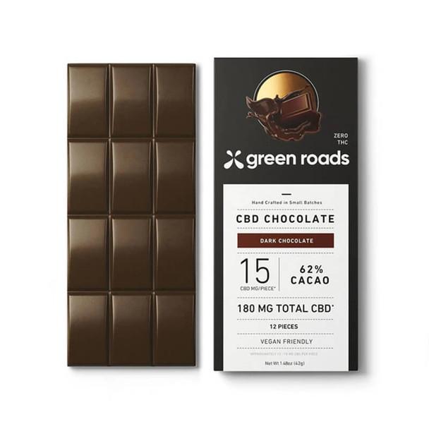 Green Roads - CBD Edible - Dark Chocolate Bar - 180mg