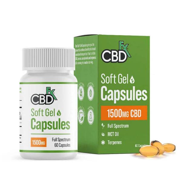 CBDfx - CBD Gel Capsules - 60 Count Bottle - 25mg