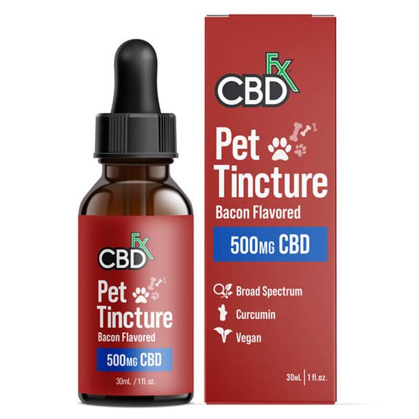 CBDfx - CBD Pet Tincture - Bacon Flavored for Medium Breeds - 500mg