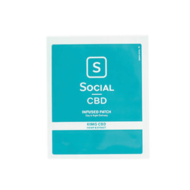 Social CBD - CBD Topical - Patch - 60mg
