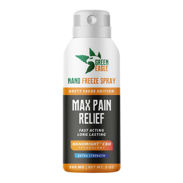Green Eagle - CBD Topical - Max Pain Relief Nano Freeze Spray 500mg-1000mg