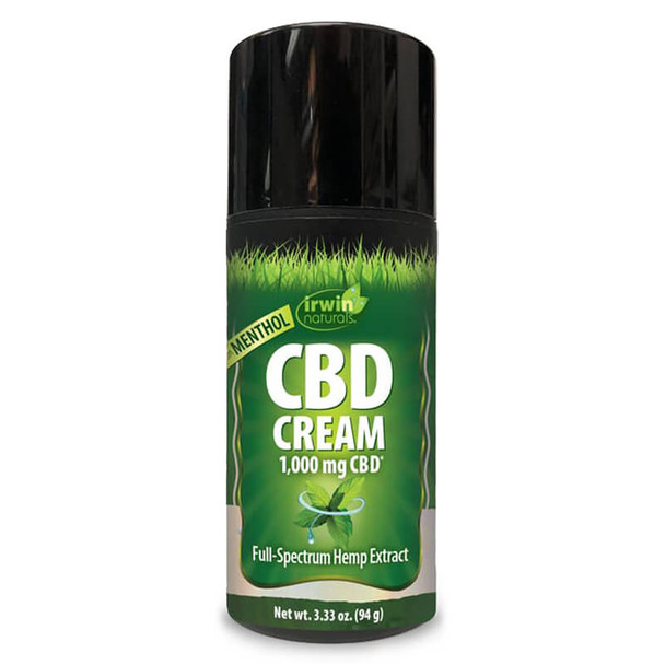 Irwin Naturals - CBD Topical - Full Spectrum Menthol Cream - 1000mg
