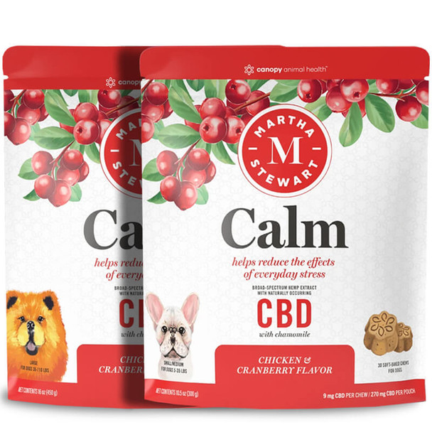 Martha Stewart - CBD Pet Treats - Soft-Baked Calm Dog Chews - 9mg-26mg