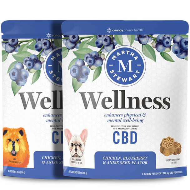 Martha Stewart - CBD Pet Treats - Soft-Baked Wellness Dog Chews - 7mg-19mg
