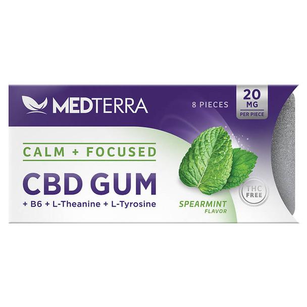 Medterra - CBD Edible - Spearmint Gum - 20mg