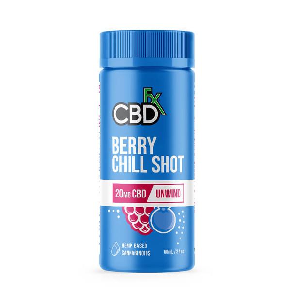 CBDfx - CBD Drink - Berry Chill Shot - 20mg