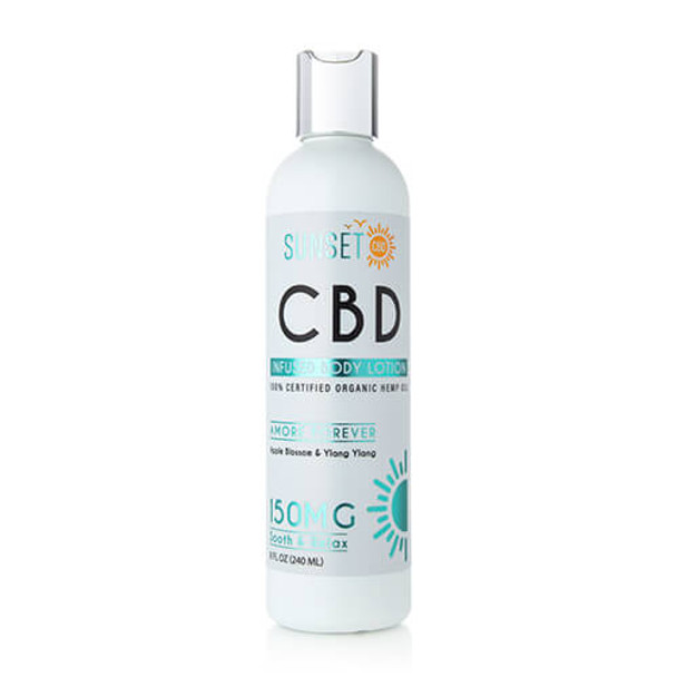 Sunset CBD - CBD Topical - Amore Forever Body Lotion - 150mg