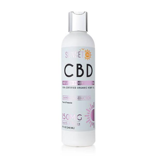 Sunset CBD - CBD Topical - Champagne Seduction Body Lotion - 150mg