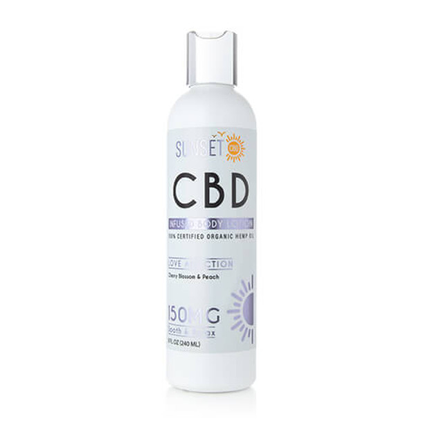 Sunset CBD - CBD Topical - Love Addiction Body Lotion - 150mg