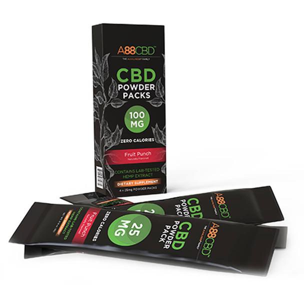 A88 CBD - CBD Drink - Fruit Punch Packs - 100mg
