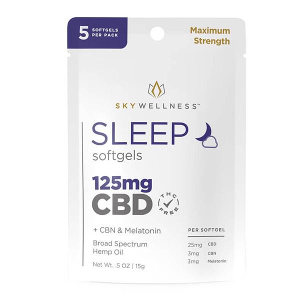 Sky Wellness - CBD Capsules - Sleep Softgels with CBN + Melatonin - 25mg