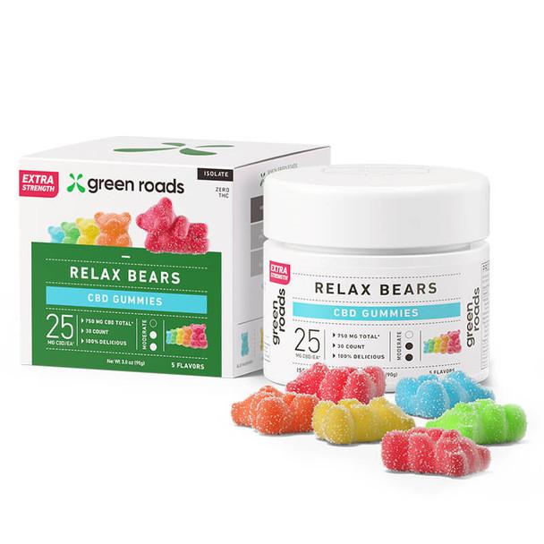 Green Roads - CBD Edible - Extra Strength Relax Gummy Bears - 25mg