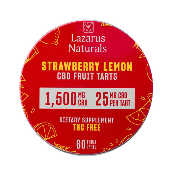 Lazarus Naturals - CBD Edible - Fruit Tarts Strawberry Lemon - 500mg-1500mg
