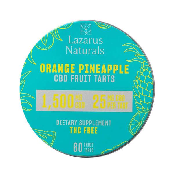 Lazarus Naturals - CBD Edible - Fruit Tarts Orange Pineapple - 500mg-1500mg