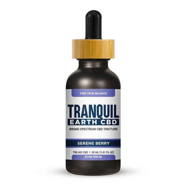 Tranquil Earth CBD - CBD Tincture - Broad Spectrum Serene Berry - 750mg