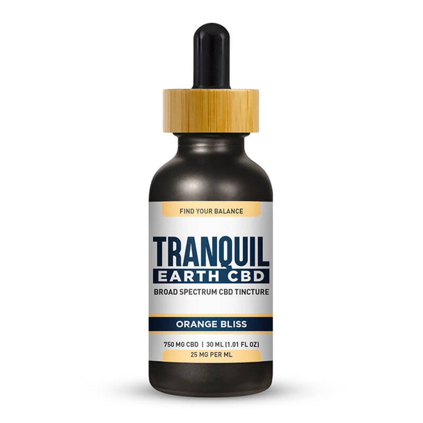 Tranquil Earth CBD - CBD Tincture - Broad Spectrum Orange Bliss - 750mg