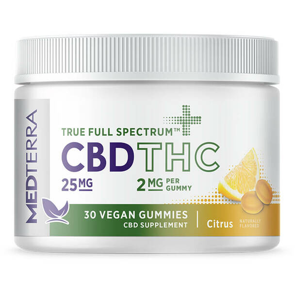 Medterra - CBD Edible - True Full Spectrum Citrus Gummies - 25mg