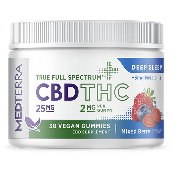 Medterra - CBD Edible - True Full Spectrum Mixed Berry Gummies - 25mg