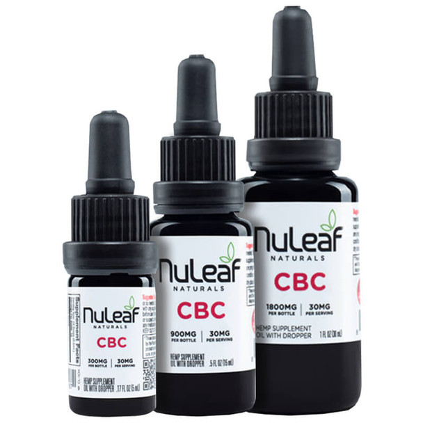 NuLeaf Naturals - CBD Tincture - Full Spectrum CBC Oil - 300mg-1800mg