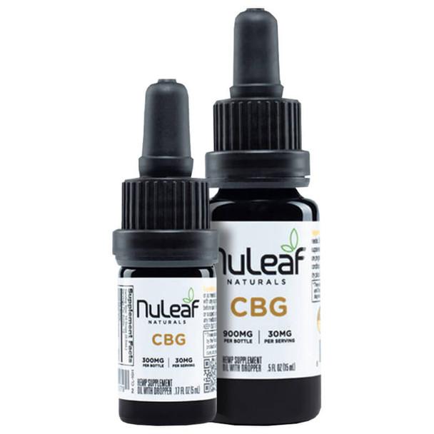 NuLeaf Naturals - CBD Tincture - Full Spectrum CBG Oil - 300mg-1800mg