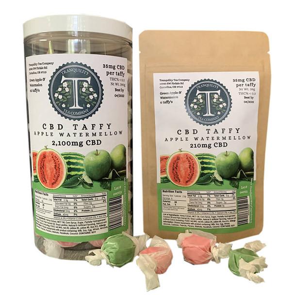 Tranquility Tea Company - CBD Edible - Apple Watermelon Taffy - 35mg