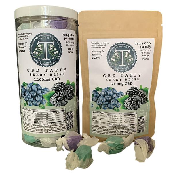 Tranquility Tea Company - CBD Edible - Berry Bliss Taffy - 35mg