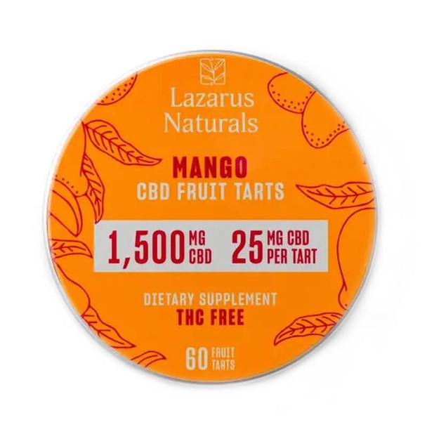 Lazarus Naturals - CBD Edible - Fruit Tarts Mango - 500mg-1500mg
