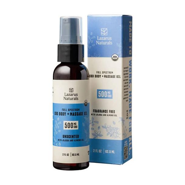 Lazarus Naturals - CBD Topical - Body + Massage Oil - 500mg-4000mg