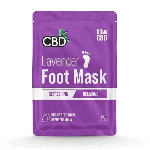CBDfx - CBD Topical - Lavender Foot Mask - 50mg