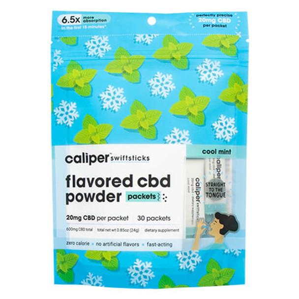 Caliper CBD - CBD Edible - Cool Mint Swiftsticks Powder - 20mg