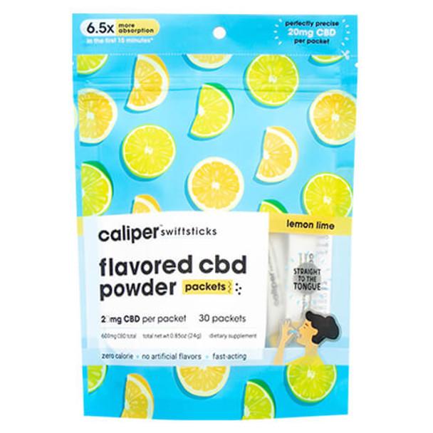 Caliper CBD - CBD Edible - Lemon Lime Swiftsticks Powder - 20mg