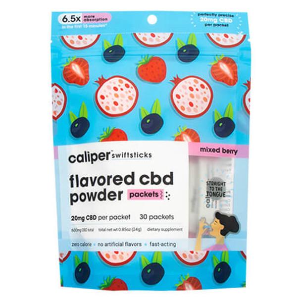 Caliper CBD - CBD Edible - Mixed Berry Swiftsticks Powder - 20mg