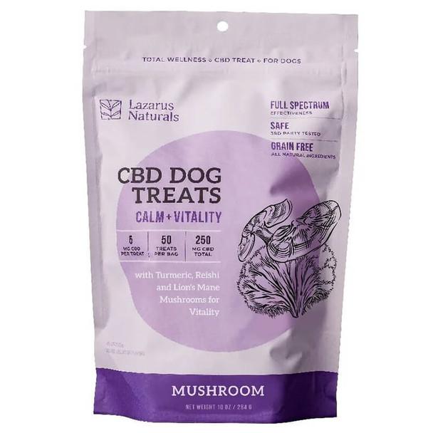 Lazarus Naturals - CBD Pet Edible - Mushroom Calm + Vitality Dog Treats - 250mg