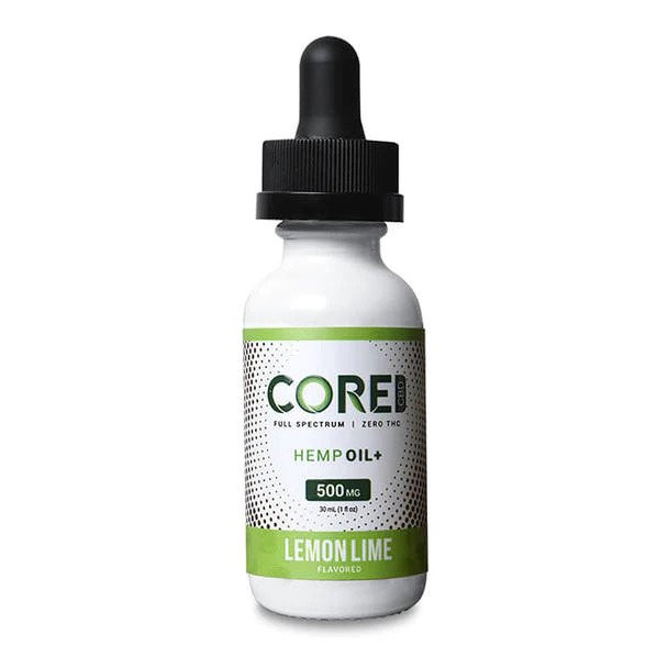 Core CBD - CBD Tincture Oil - Lemon Lime - 250mg-1500mg